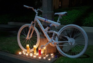 Ghost bike for Phillip O'Neill; respectfully borrowed from Ghost Bikes-LA