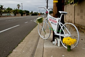 Ghost bike for Sean Severson; photo by Danny Gamboa.