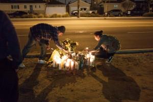 Memorial for Ricky Montoya; photo by Danny Gamboa.