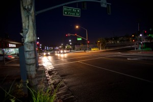 Scene of the collision; all photos by Danny Gamboa