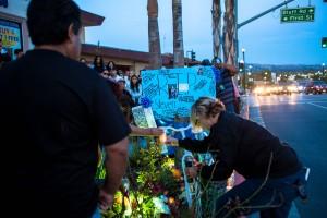 Ghost bike and memorial for Steven Garcia