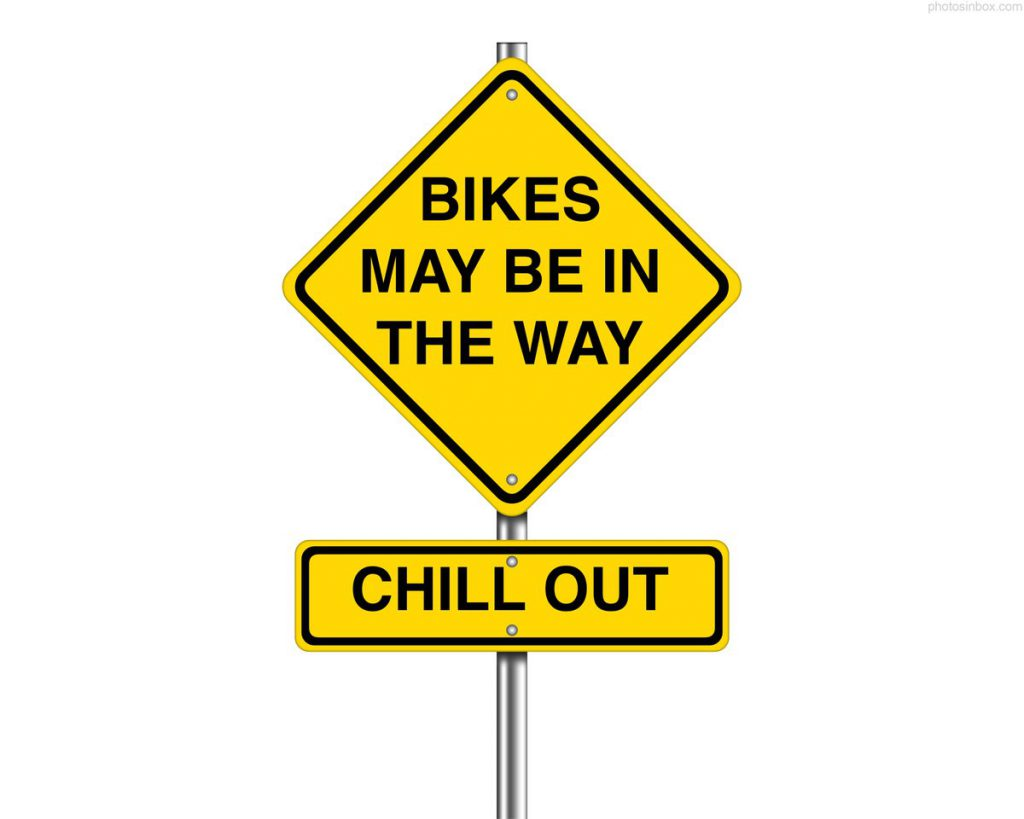 Bikes May Be In The Way