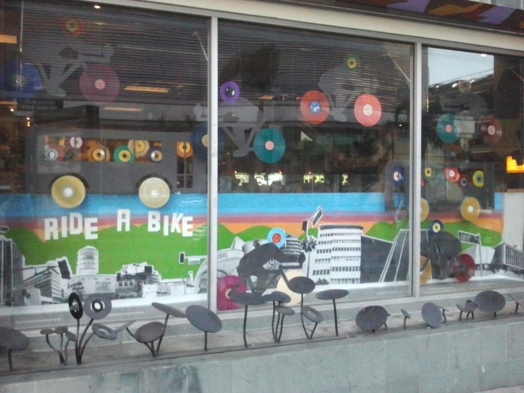 Amoeba Music Window