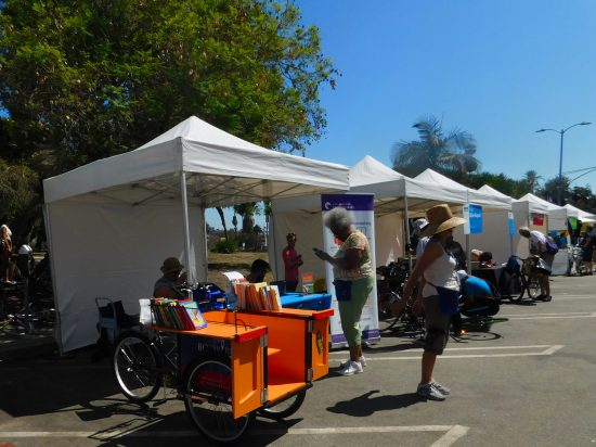 The LA Public Library book bike